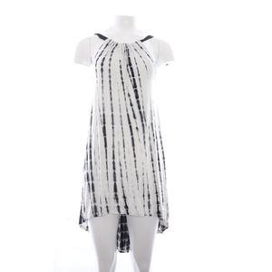 Vizio USA High Low Mini Dress Black White M